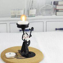 1pc Iron Figure Design Candle Holder
