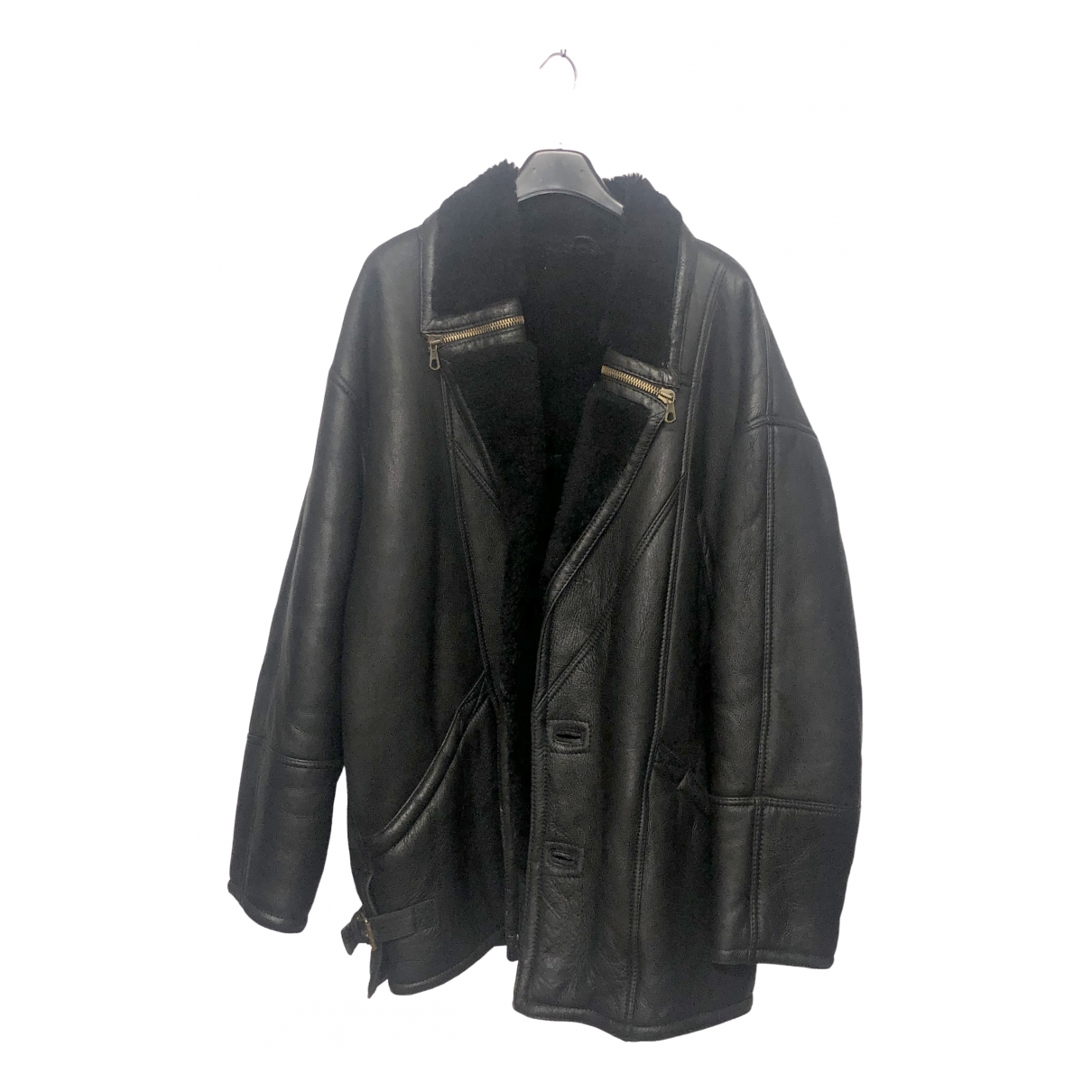 Non Signé / Unsigned \N Black Shearling jacket  for Men XL International