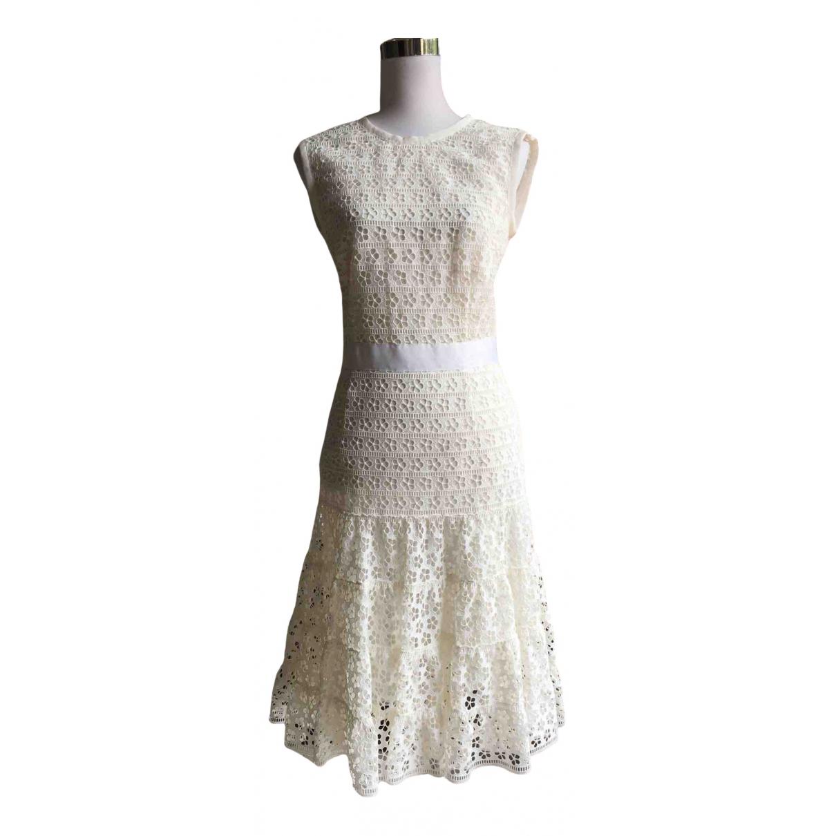Giambattista Valli \N White Cotton dress for Women 40 IT