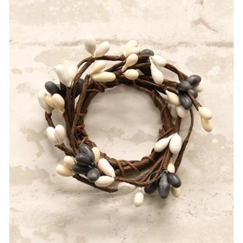 Mini Pip Berry Ring Farmhouse Mix 1.5 - Brown (Artificial Wreath)