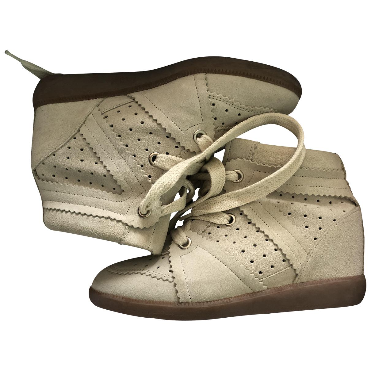 Isabel Marant Betty Beige Suede Trainers for Women 4 UK