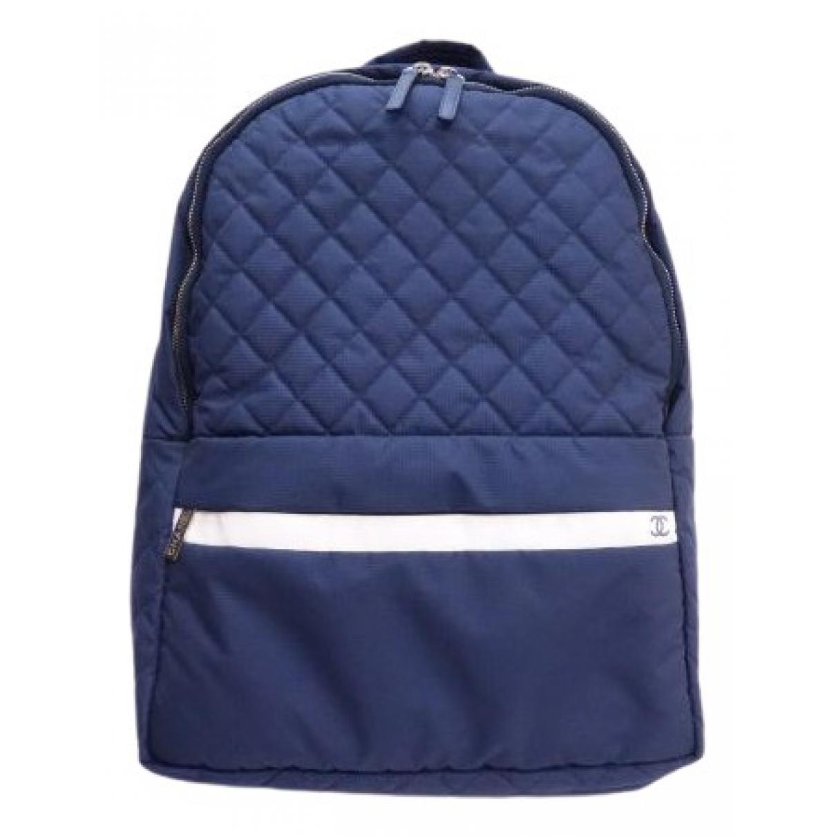 Chanel - Sac a dos   pour femme - bleu