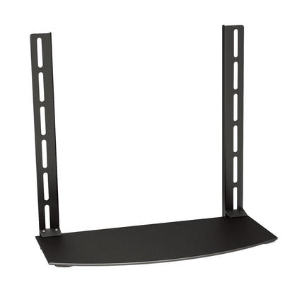 TV Wall Mount Shelf DVD Bracket (Max 22 lbs, VESA 400x380), Black - Monoprice®