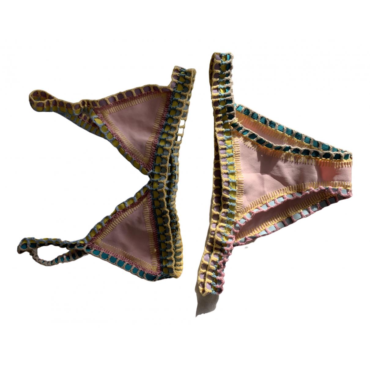Kiini N Pink Lycra Swimwear for Women 36 FR