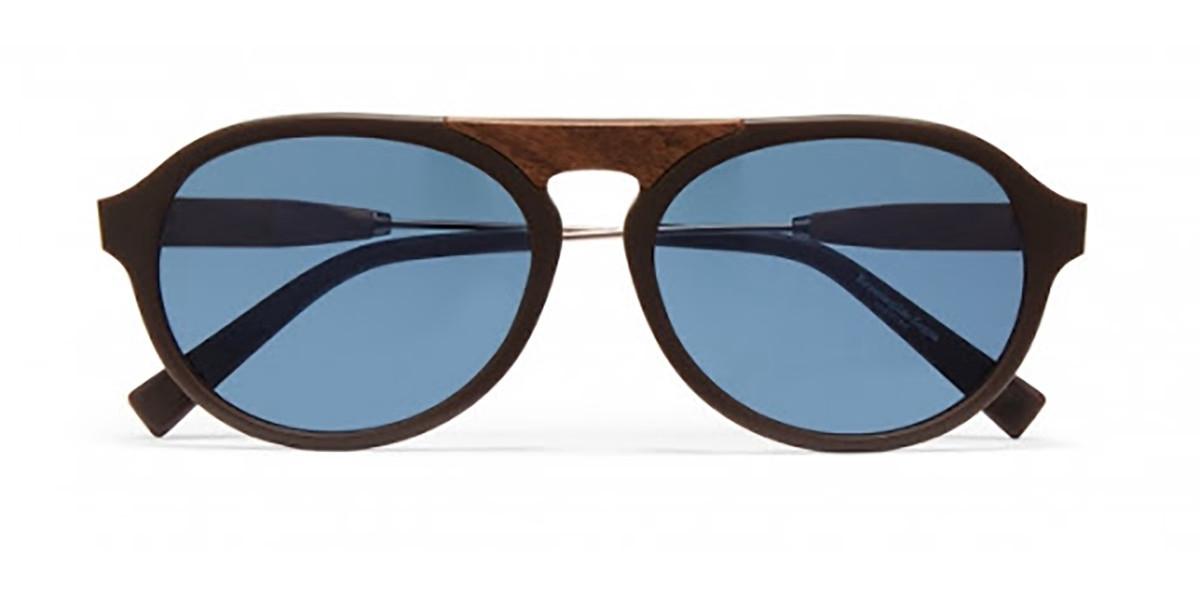 Ermenegildo Zegna ZC0027 50V Mens Sunglasses Brown Size 55