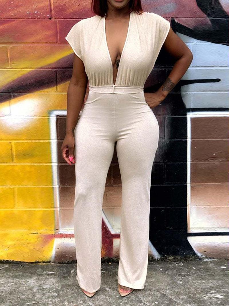 Ericdress Backless Sexy Plain Slim High Waist Jumpsuit