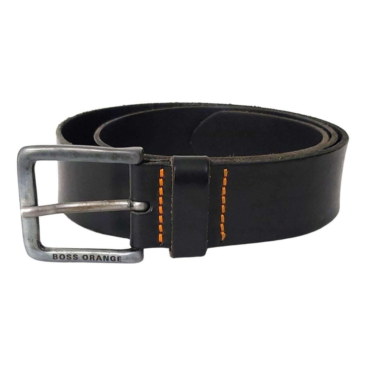 Boss Orange \N Black Leather belt for Men 95 cm