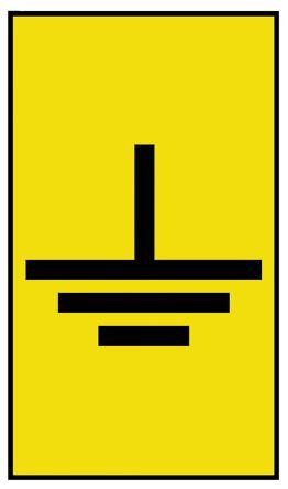HellermannTyton Ovalgrip Slide On Cable Marker, Pre-printed Earth Black on Yellow 2.5 → 6mm Dia. Range