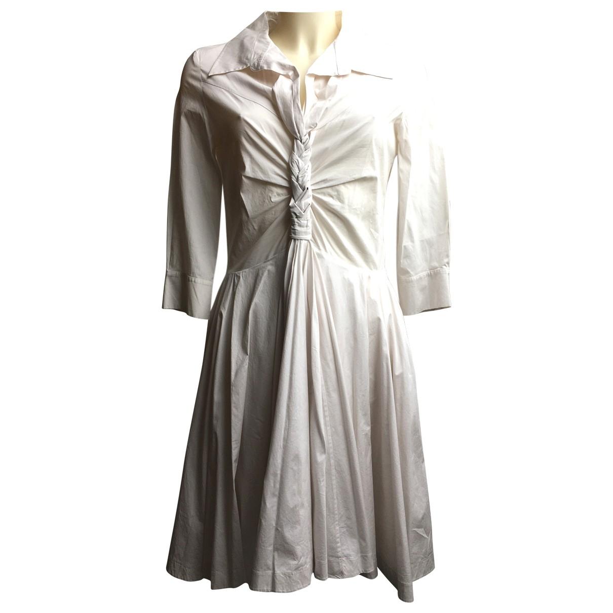 Celine - Robe   pour femme en coton - ecru