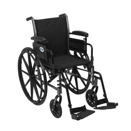 k318adda-sf Cruiser Iii Light Weight Wheelchair With Flip Back Removable Arms  Adjustable Height Desk Arms  Swing Away Footrests