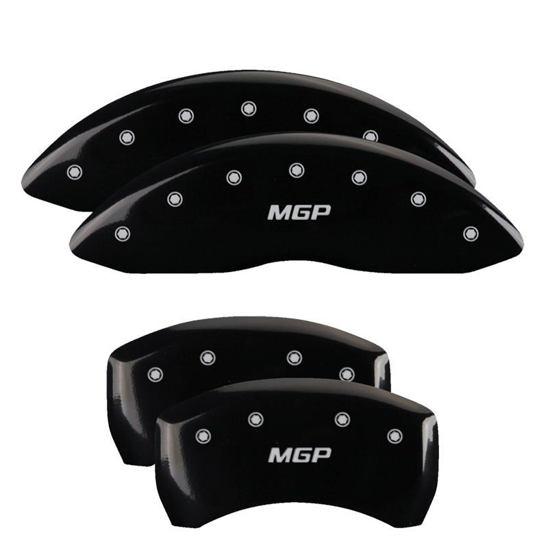 MGP Caliper Covers 32016SMGPBK Set of 4: Black finish, Silver MGP / MGP Chrysler