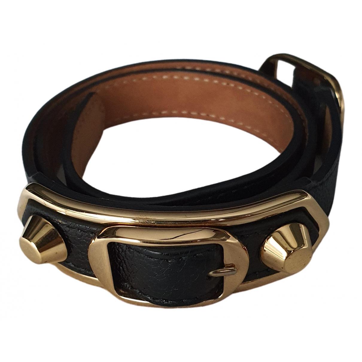 Balenciaga \N Armband in  Schwarz Leder