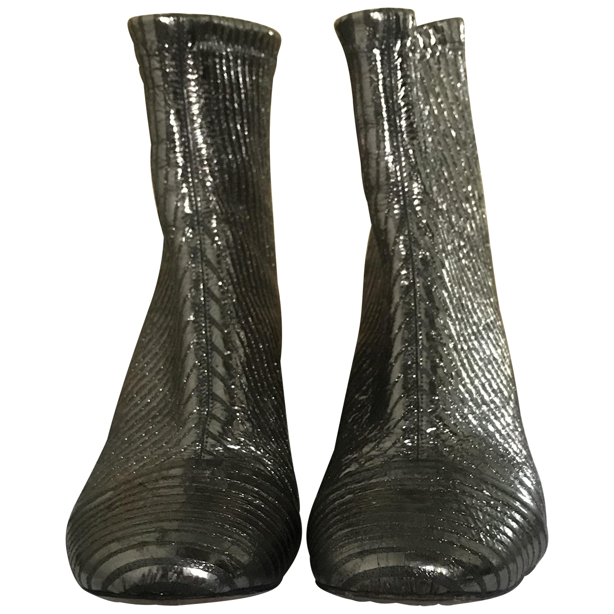 Isabel Marant \N Silver Leather Ankle boots for Women 39 EU
