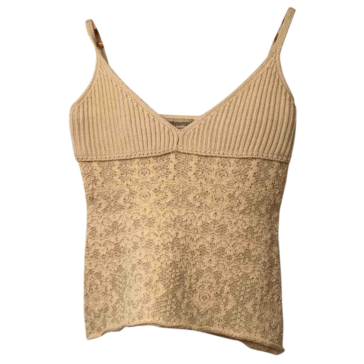 Ermanno Scervino \N Top in  Beige Wolle