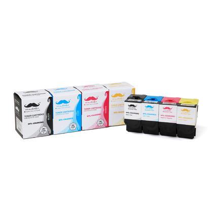 Compatible Lexmark C540H Toner Cartridge Combo BK/C/M/Y High Yield - Moustache@