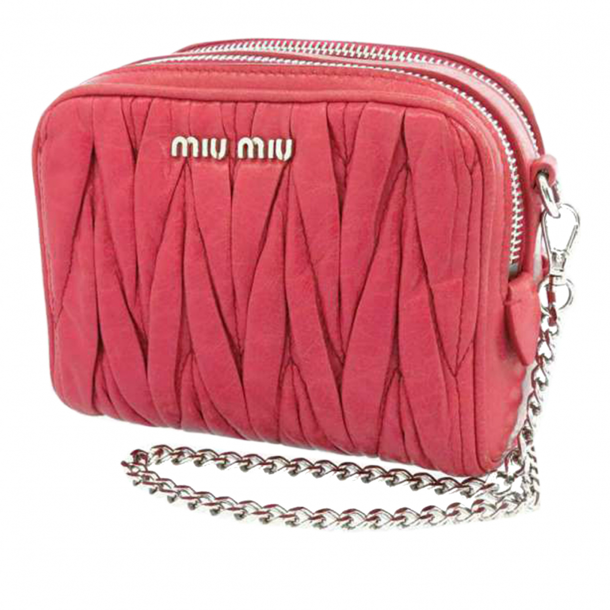 Miu Miu \N Pink Leather handbag for Women \N