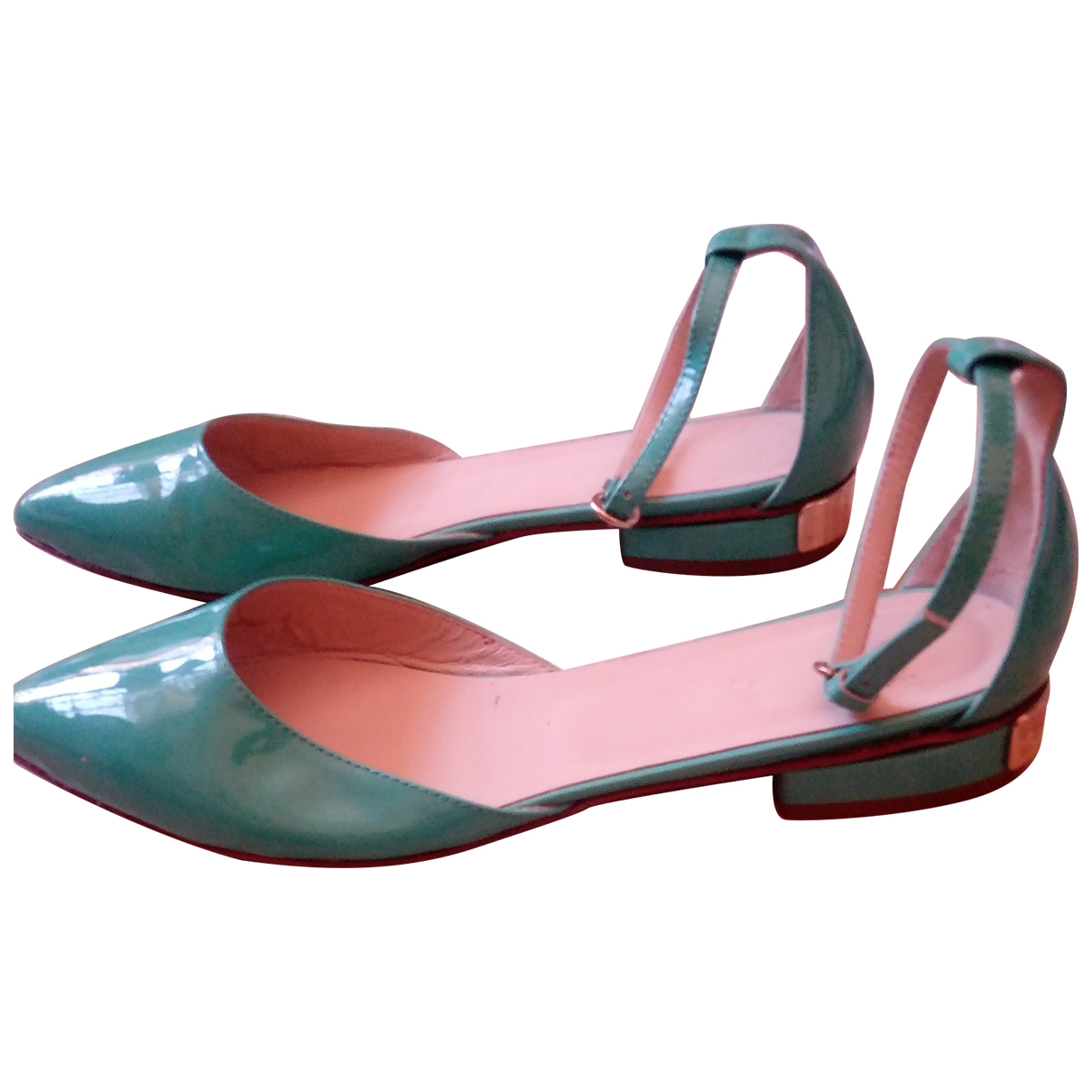 Non Signé / Unsigned \N Turquoise Patent leather Heels for Women 38 IT