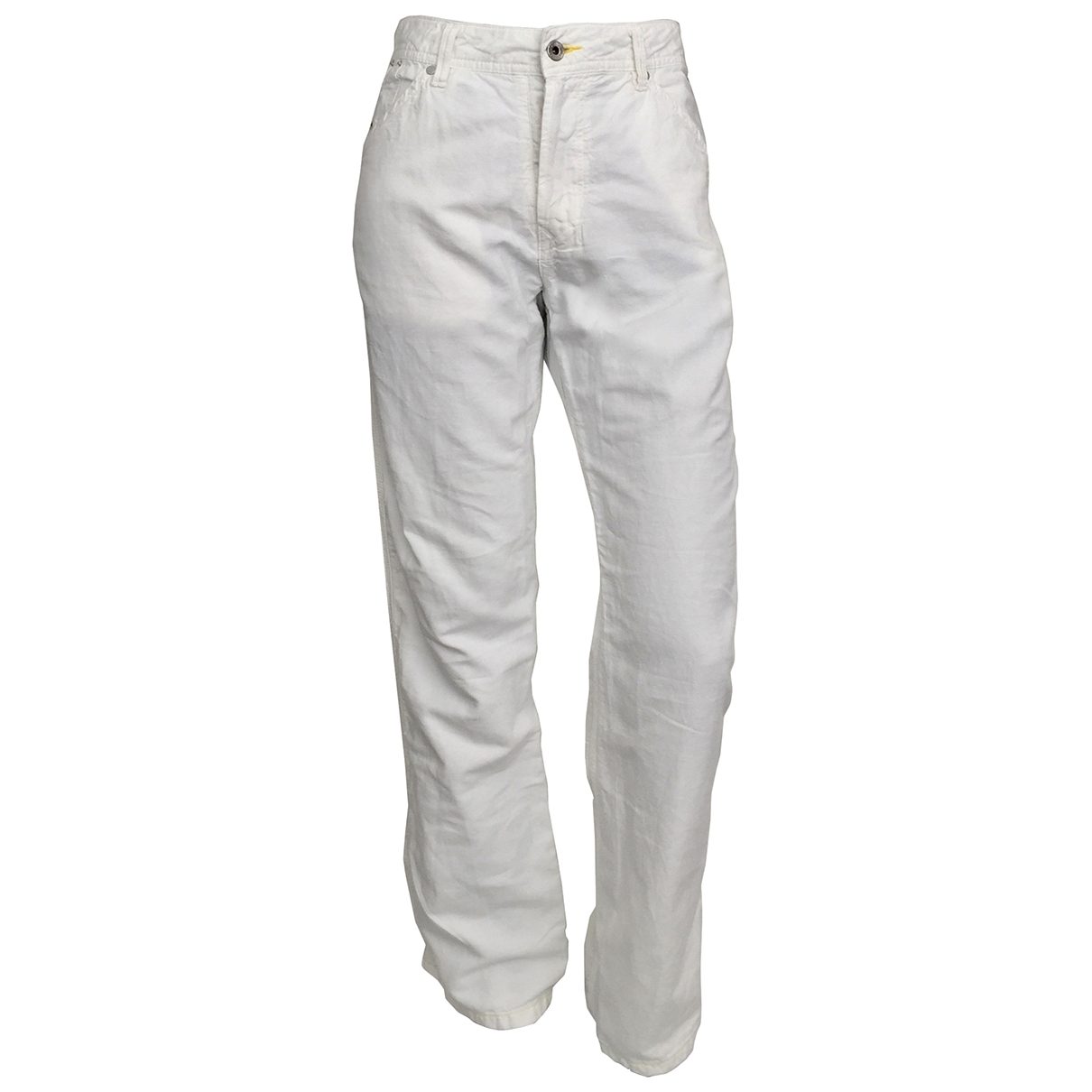 Diesel \N White Cotton Jeans for Women 30 US