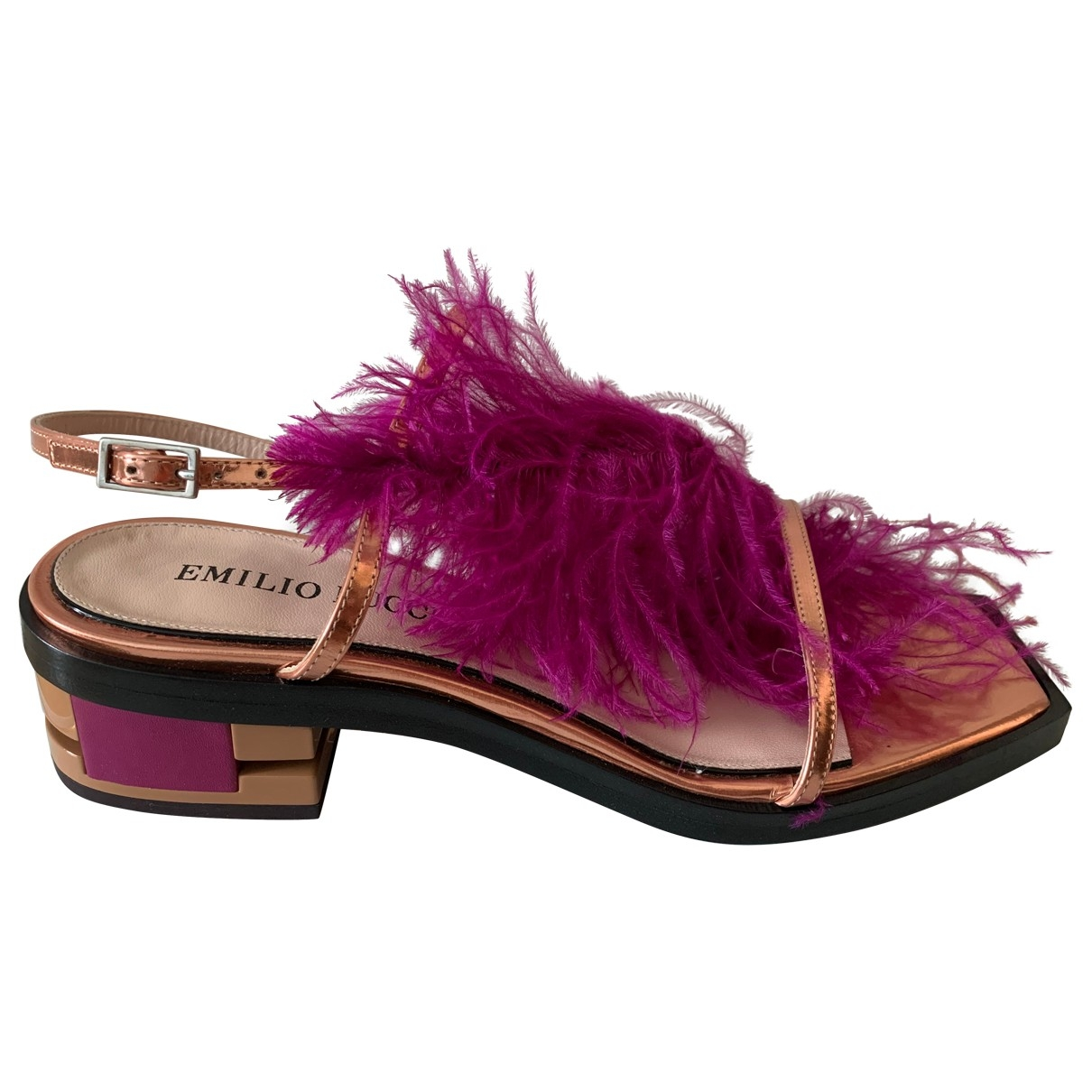 Emilio Pucci \N Purple Leather Sandals for Women 36 EU