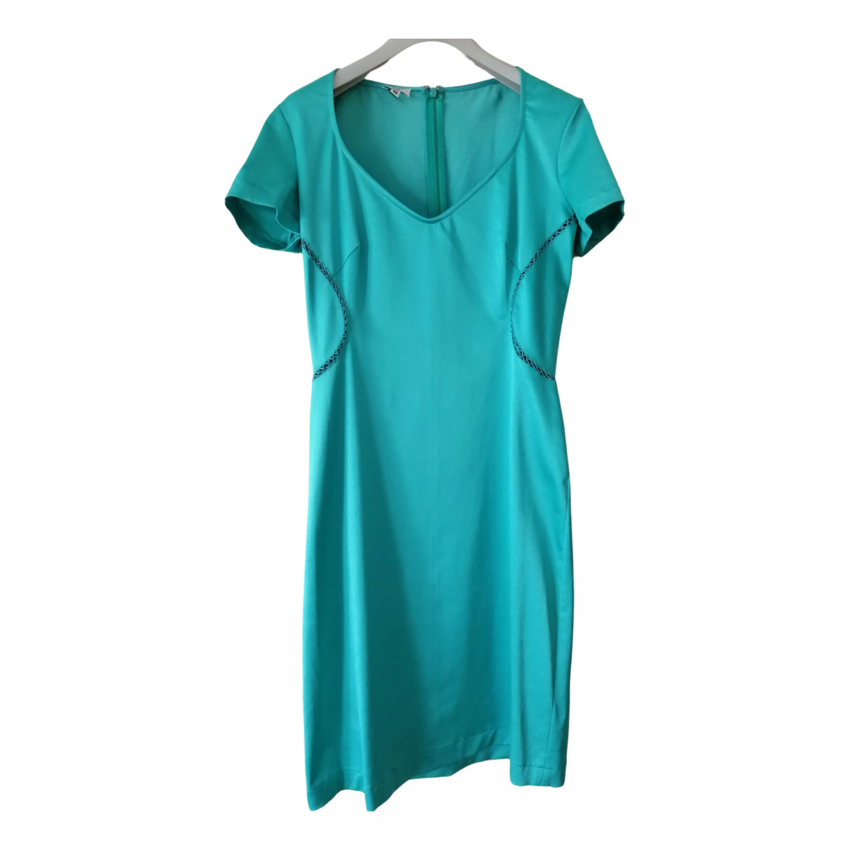 Versace Jeans \N Turquoise Cotton - elasthane dress for Women 40 IT