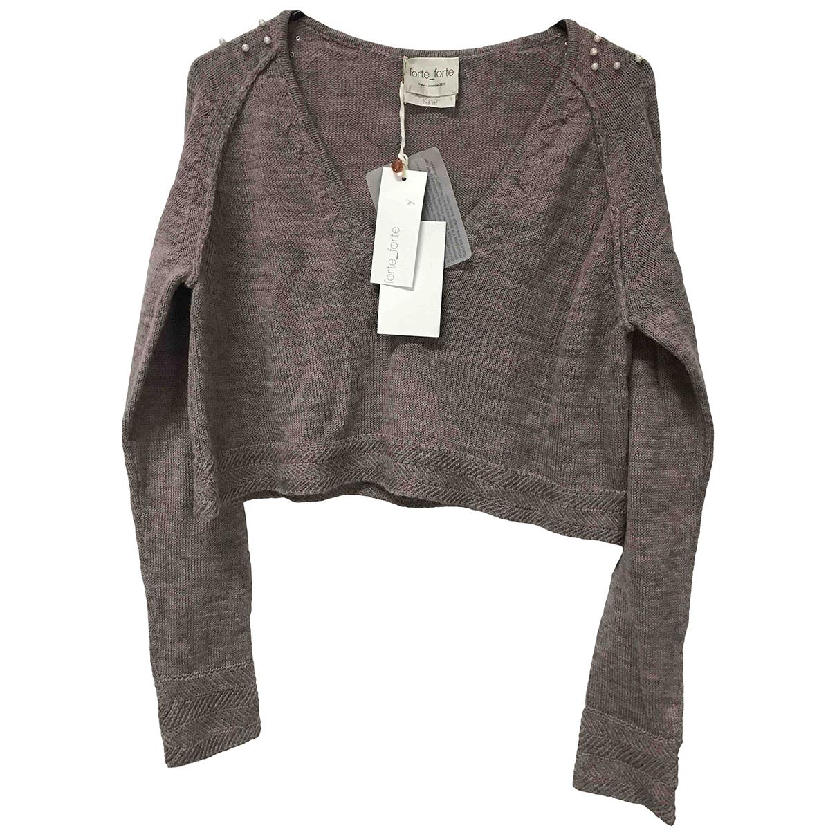 Forte_forte N Purple Wool Knitwear for Women 38 FR