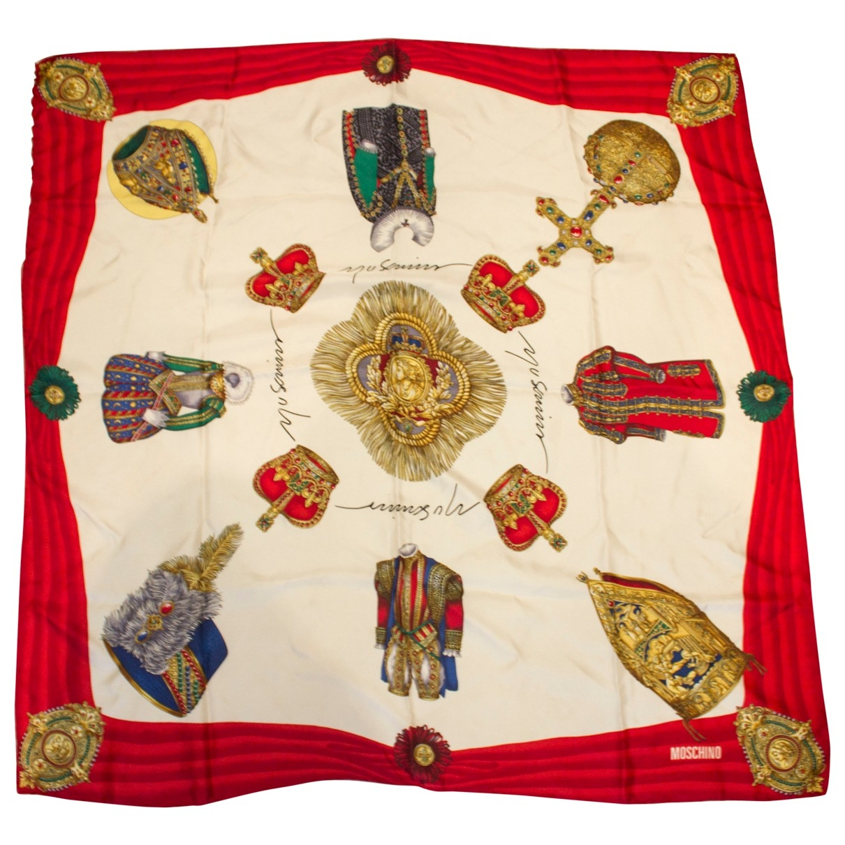 Moschino \N Red Silk Silk handkerchief for Women \N