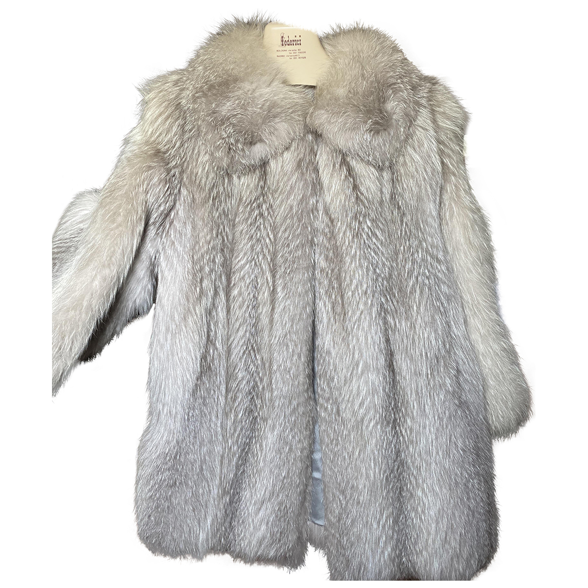 Non Signé / Unsigned \N Grey Fox coat for Women 42 IT
