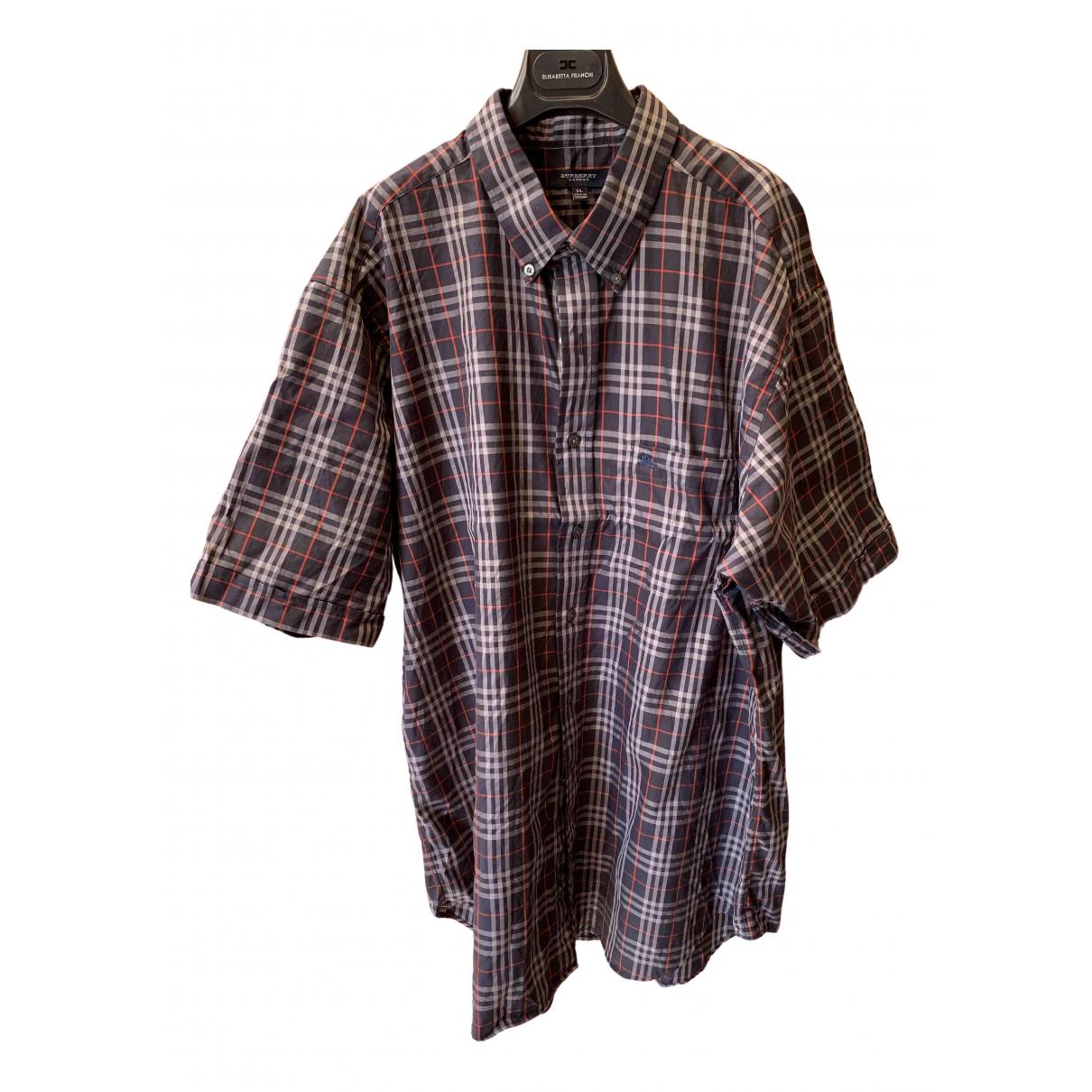 Burberry - Chemises   pour homme en coton - marine