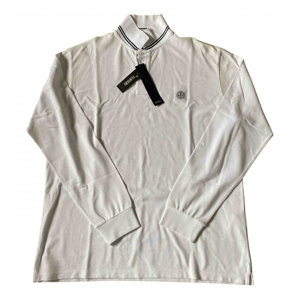 Stone Island \N White Cotton Polo shirts for Men XXL International