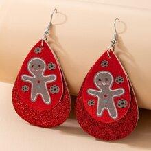 Christmas Figure Pattern Drop Earrings