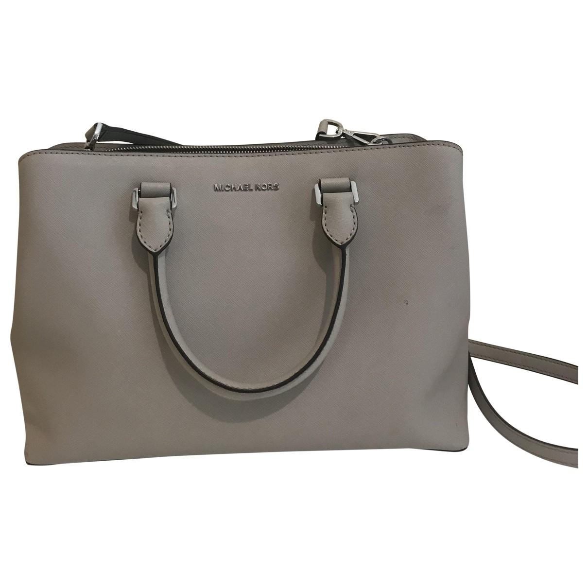 Michael Kors Savannah Handtasche in  Beige Lackleder