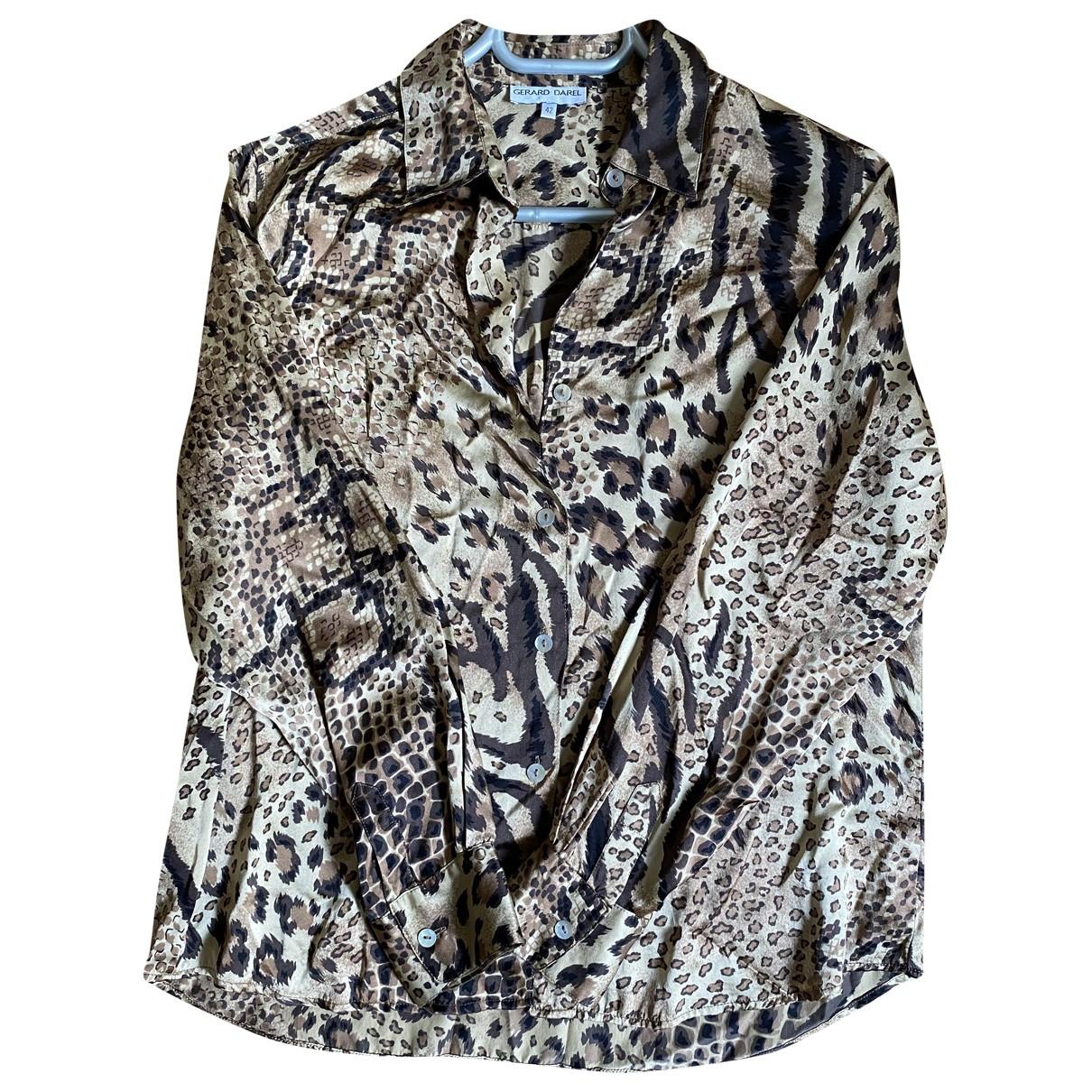 Gerard Darel \N Camel Silk  top for Women 42 FR