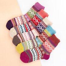 5pairs Christmas Crew Socks