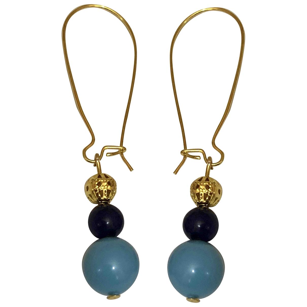 Non Signe / Unsigned Saphir OhrRing in  Blau Perle