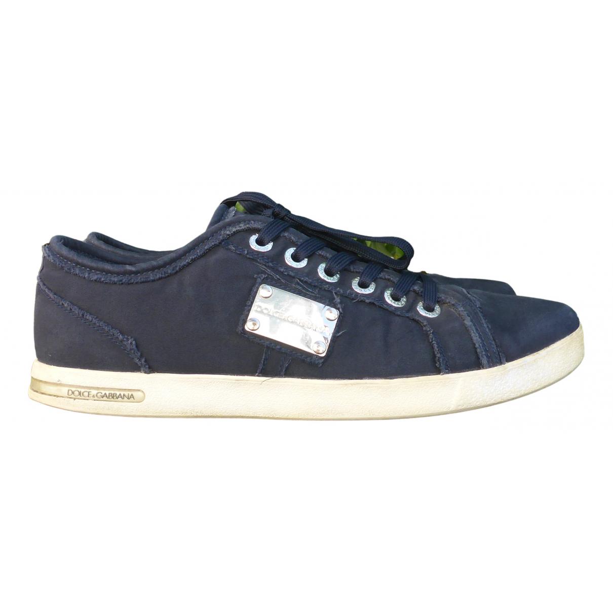Dolce & Gabbana \N Sneakers in  Blau Leinen
