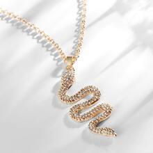 Maenner Halskette mit Strass Dekor