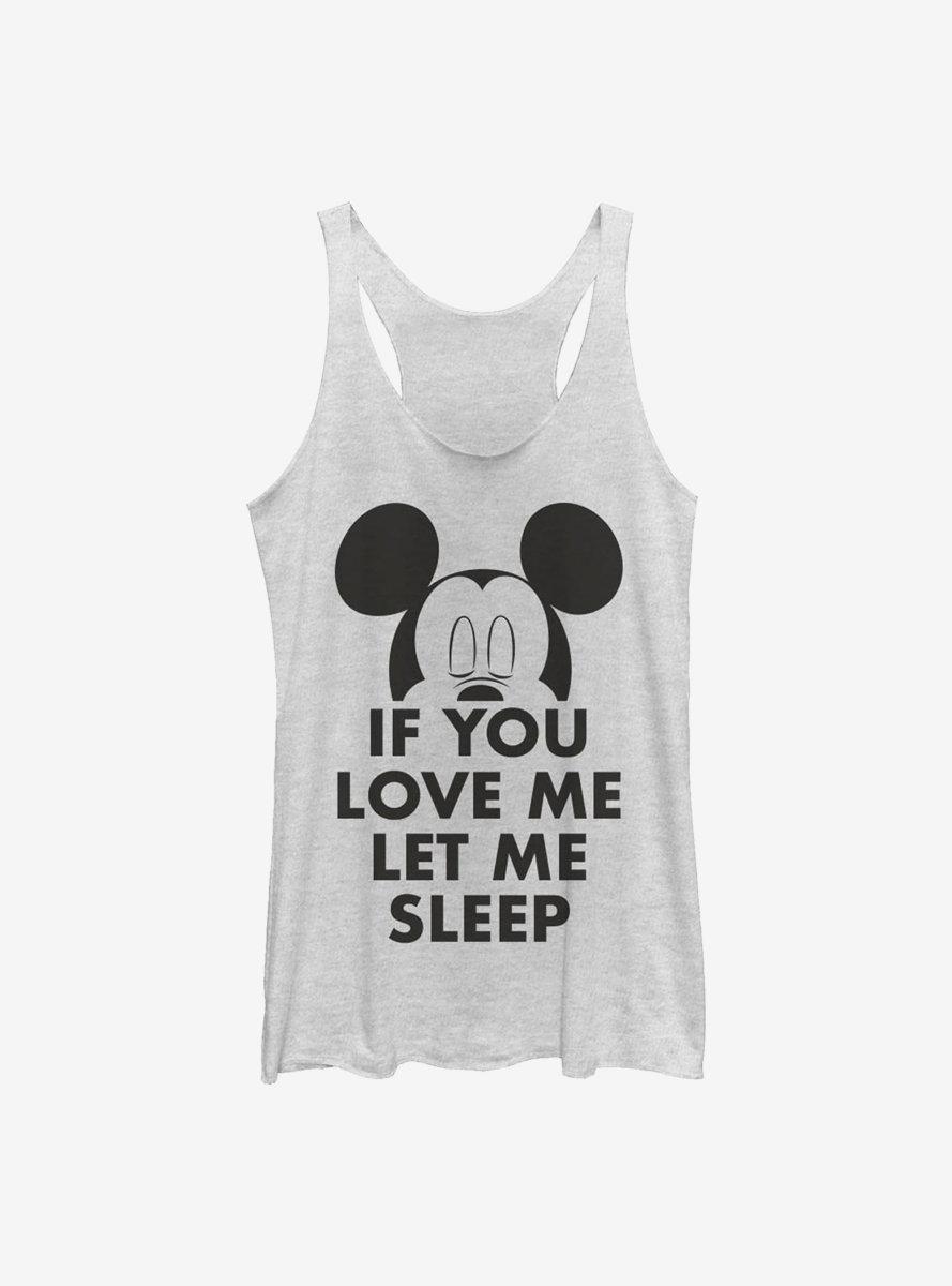 Disney Mickey Mouse Let Me Sleep Womens Tank Top