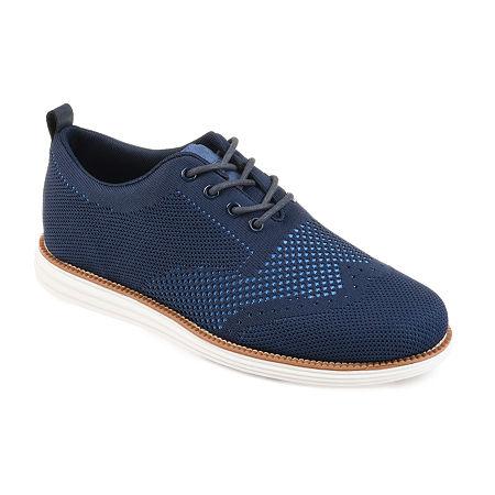 Vance Co Mens Ezra Round Toe Oxford Shoes, 7 1/2 Medium, Blue