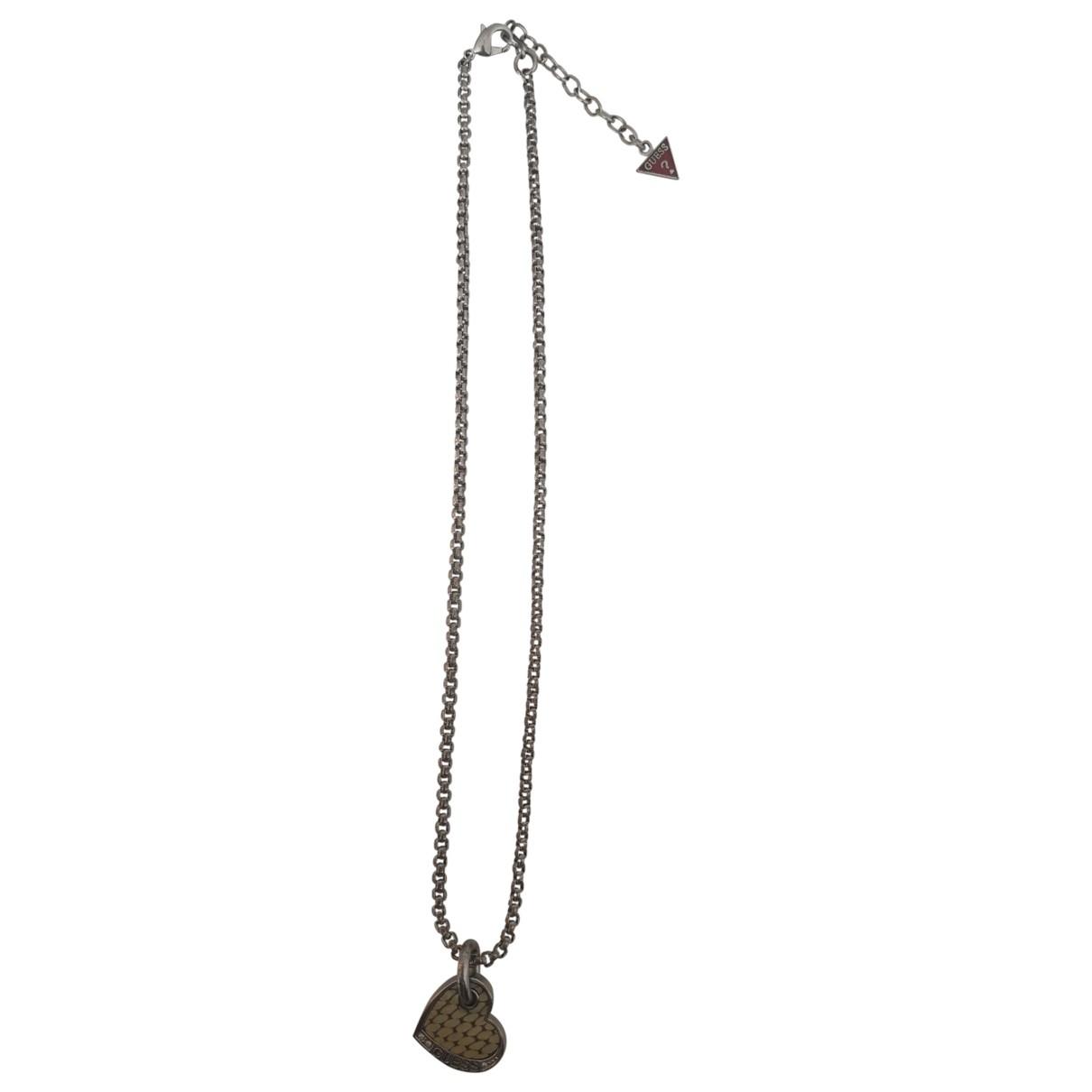 Guess - Collier   pour femme en acier - gris