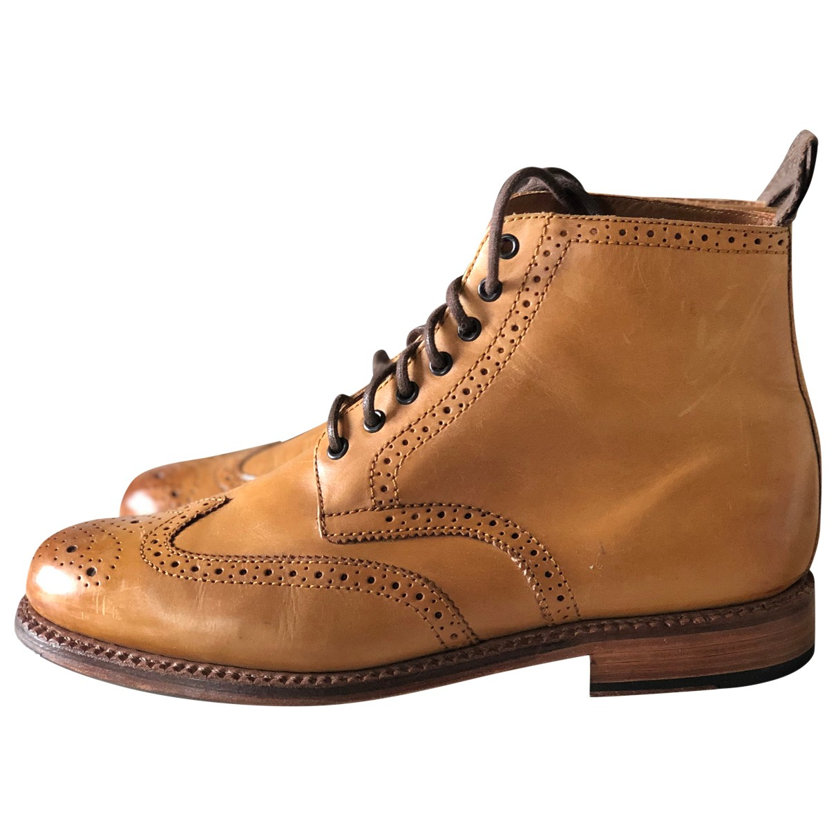 Grenson N Brown Leather Boots for Men 9 UK