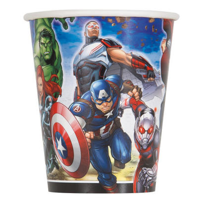 Avengers 9oz Paper Cups, 8ct For Birthday Party