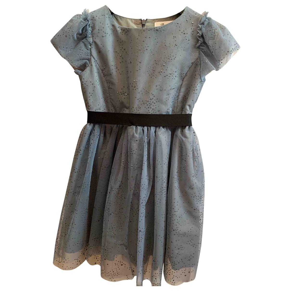 Bonpoint - Robe    pour enfant en a paillettes - bleu