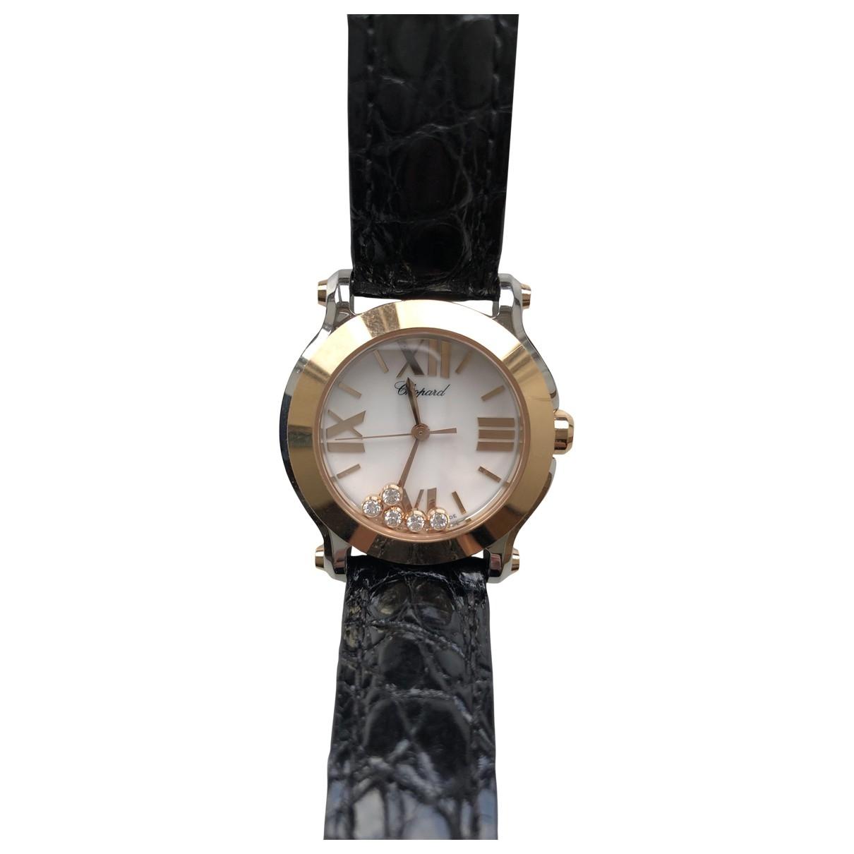 Chopard Happy Sport Uhr in  Schwarz Gold und Stahl