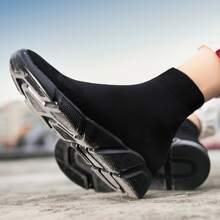 Zapatillas deportivas sin cordones tejidas minimalistas de hombres