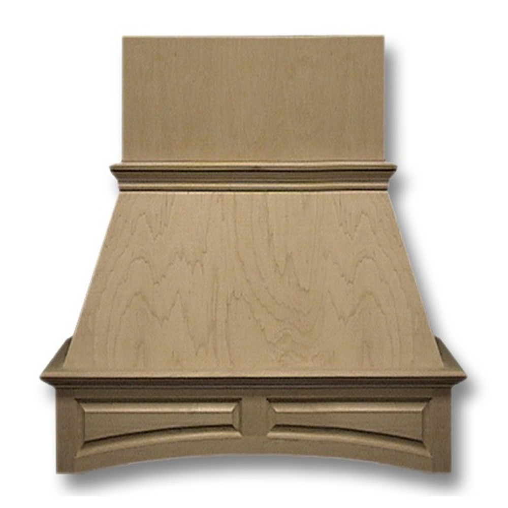 36-in. Wide Arched Raised Panel Cherry Wood Wall-Mount Range Hood