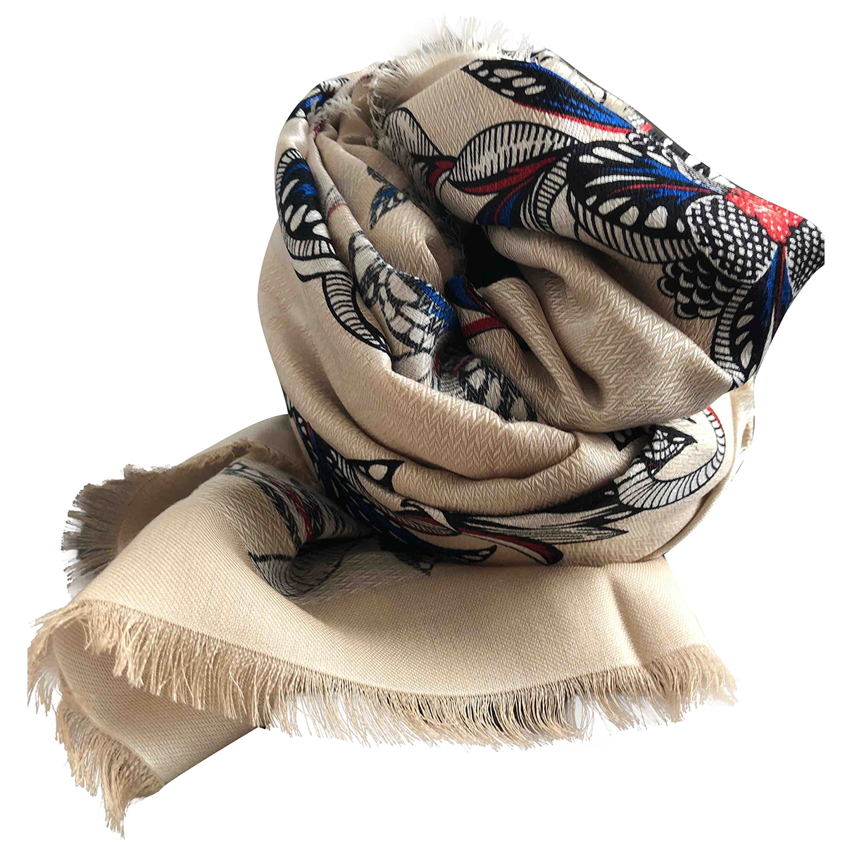 Louis Vuitton \N Beige Silk scarf for Women \N