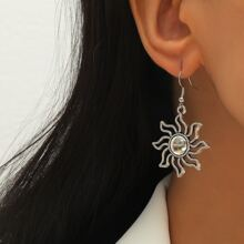 Sun Design Drop Earrings