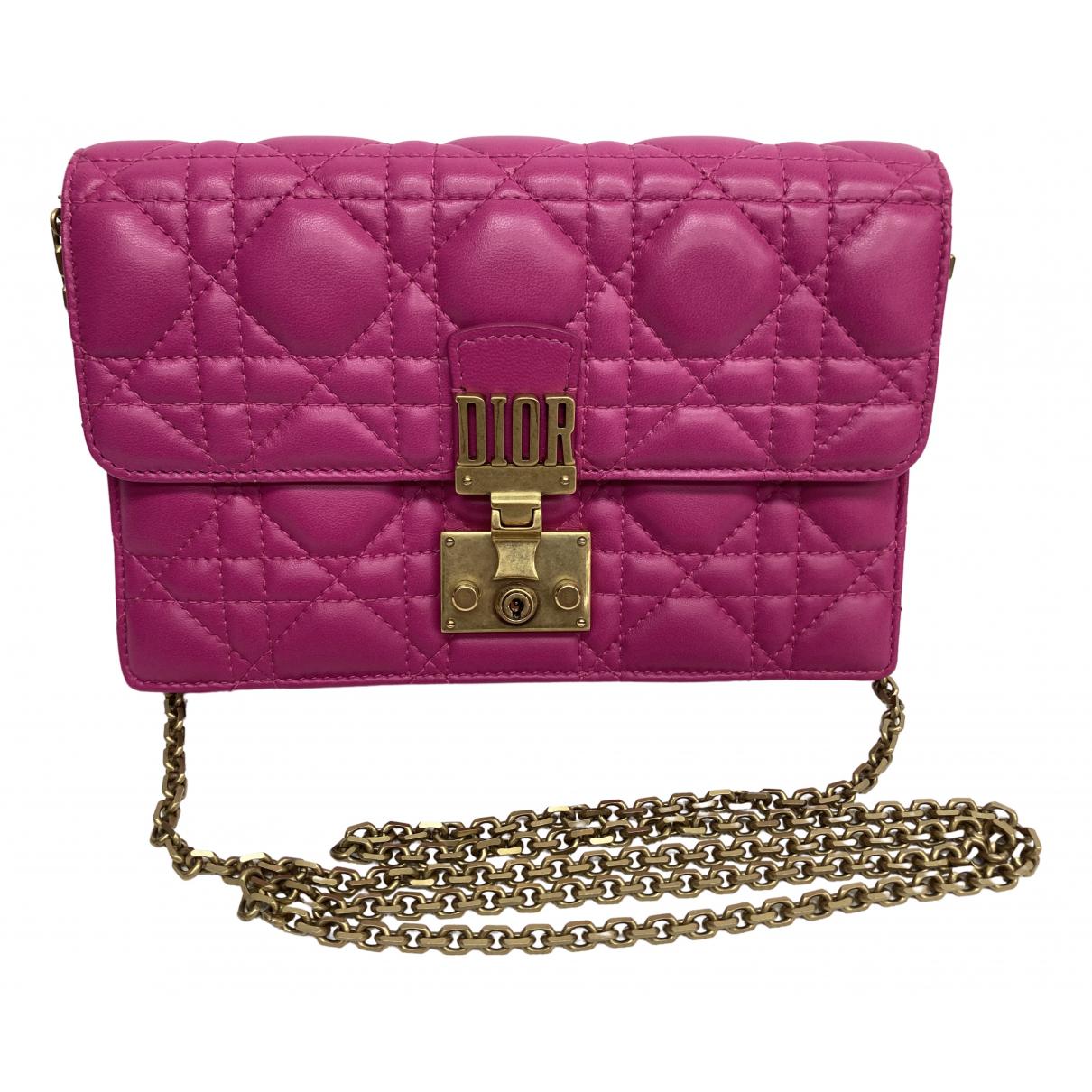 Dior DiorAddict Clutch in  Rosa Leder