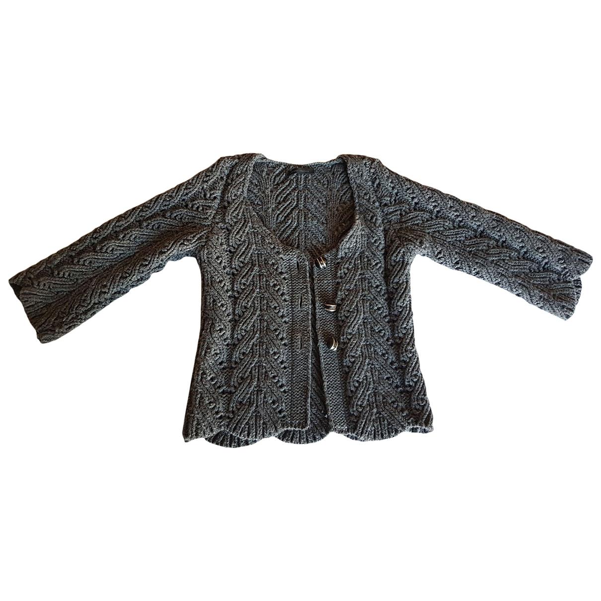 Roberto Collina - Veste   pour femme en laine - gris