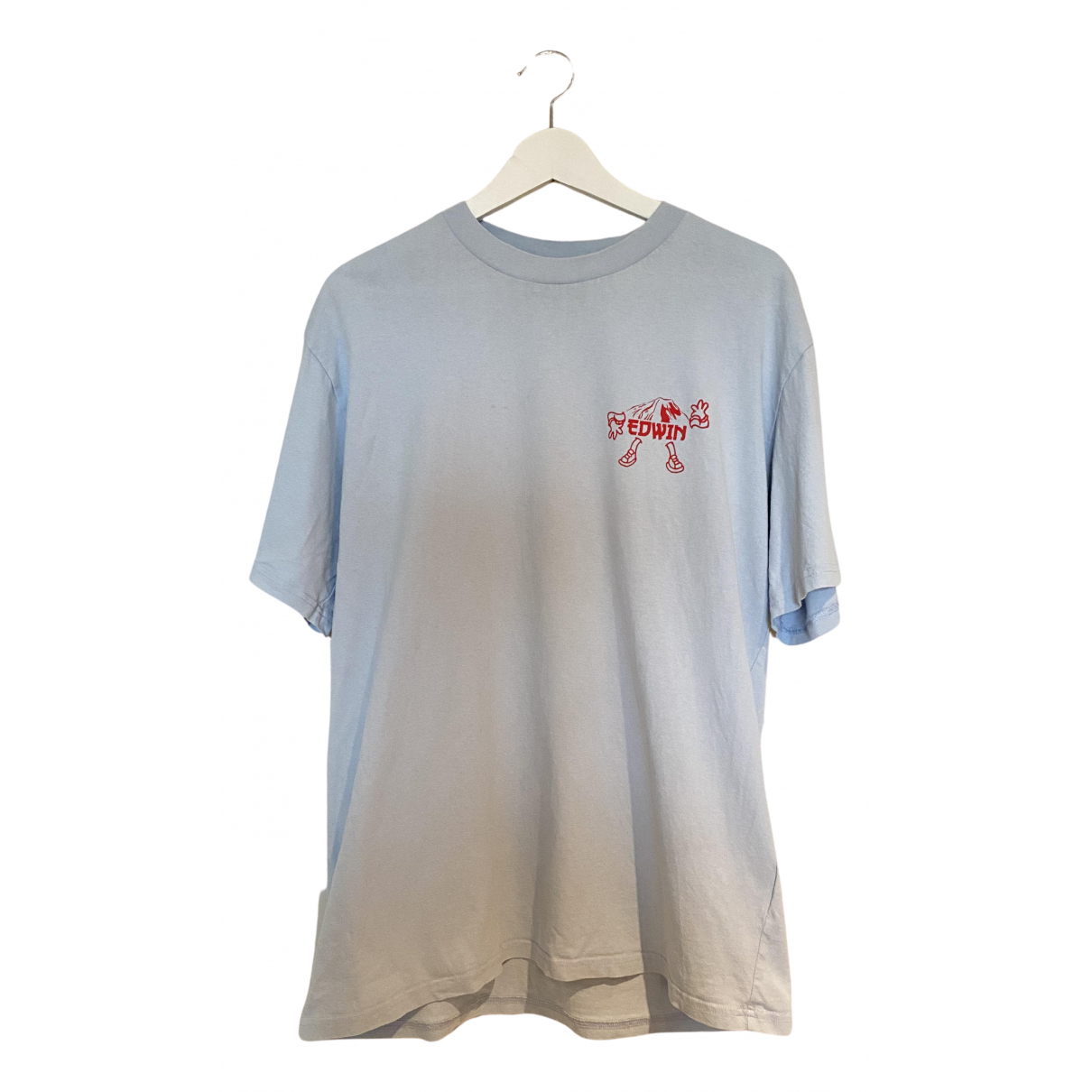 Edwin N Blue Cotton T-shirts for Men M International